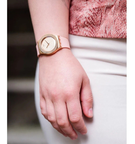 reloj swatch pink confusion mujer ylg140