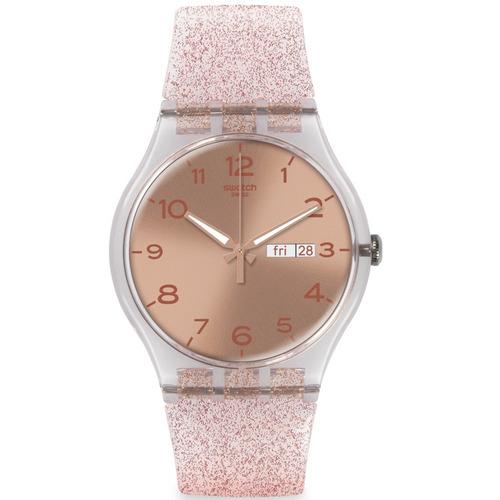 reloj swatch pink glistar suok703 mujer envio gratis
