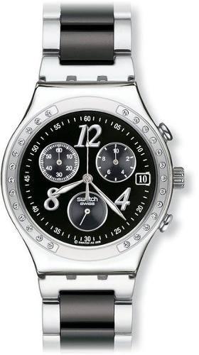 reloj swatch plateado