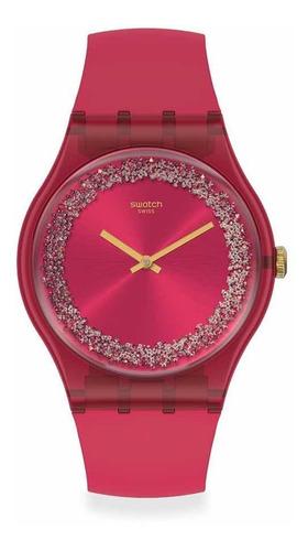 reloj swatch rojo ruby rings suop111