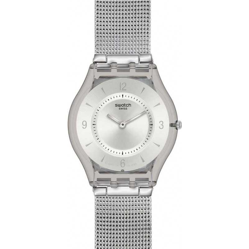 fde542333381 reloj swatch sfm118m metal knit acero plata mujer - selfie. Cargando zoom.