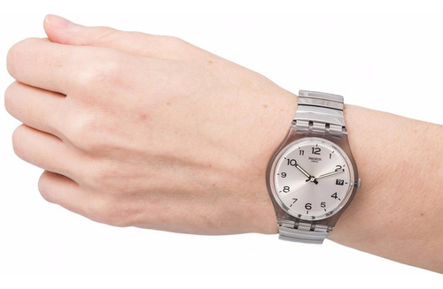 reloj swatch silverall gm416b - talle small 16 cms