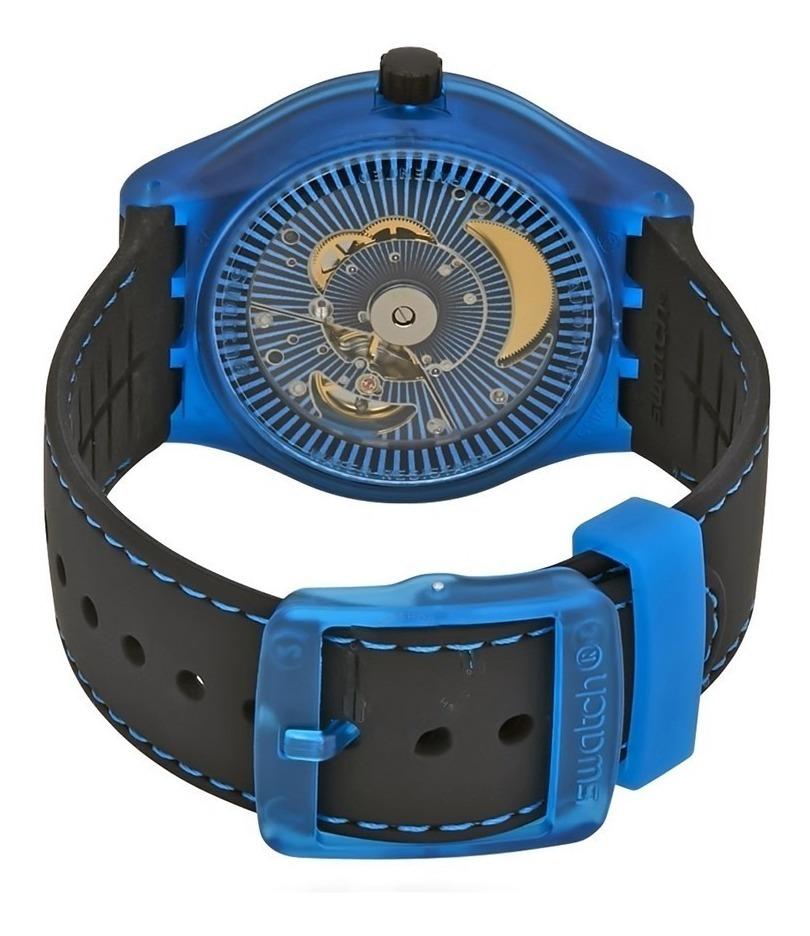 Suts401Original Reloj Blue Sistem Gratis Envío Swatch ZuPkiX