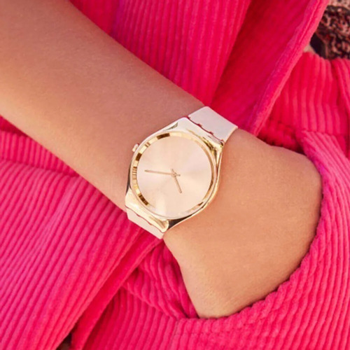 reloj swatch skin rosee syxg101- mujer
