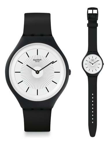 reloj swatch skinnoir svub100 unisex | original envío gratis