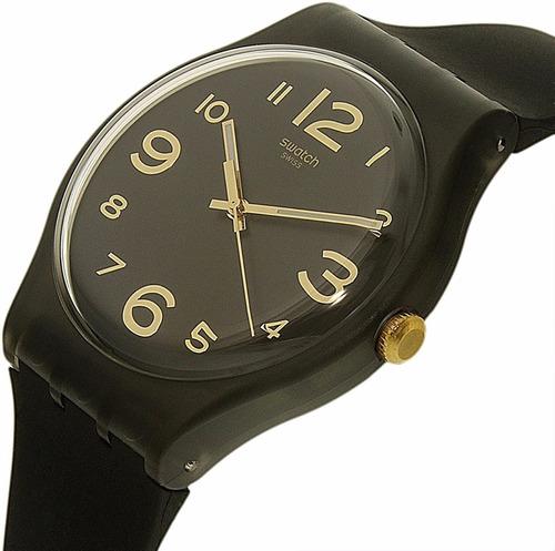 reloj swatch suob138 townhall numeros dorados 30m wr