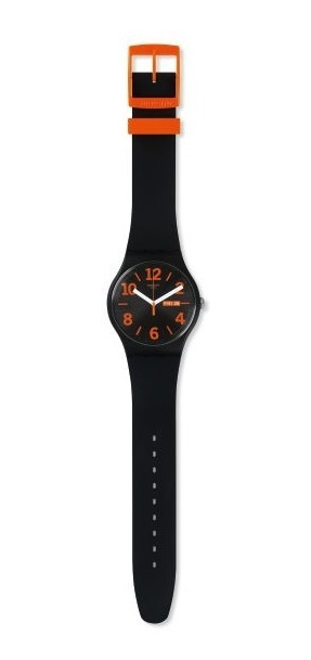 Naranja Orangio Negro Suob723 Swatch Selfie Unisex Reloj TF3lJcK1