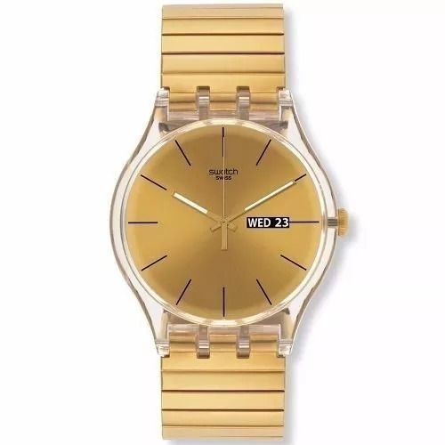 Suok707b Plateado Rosè Reloj Dorado Swatch TwkZPXiOu