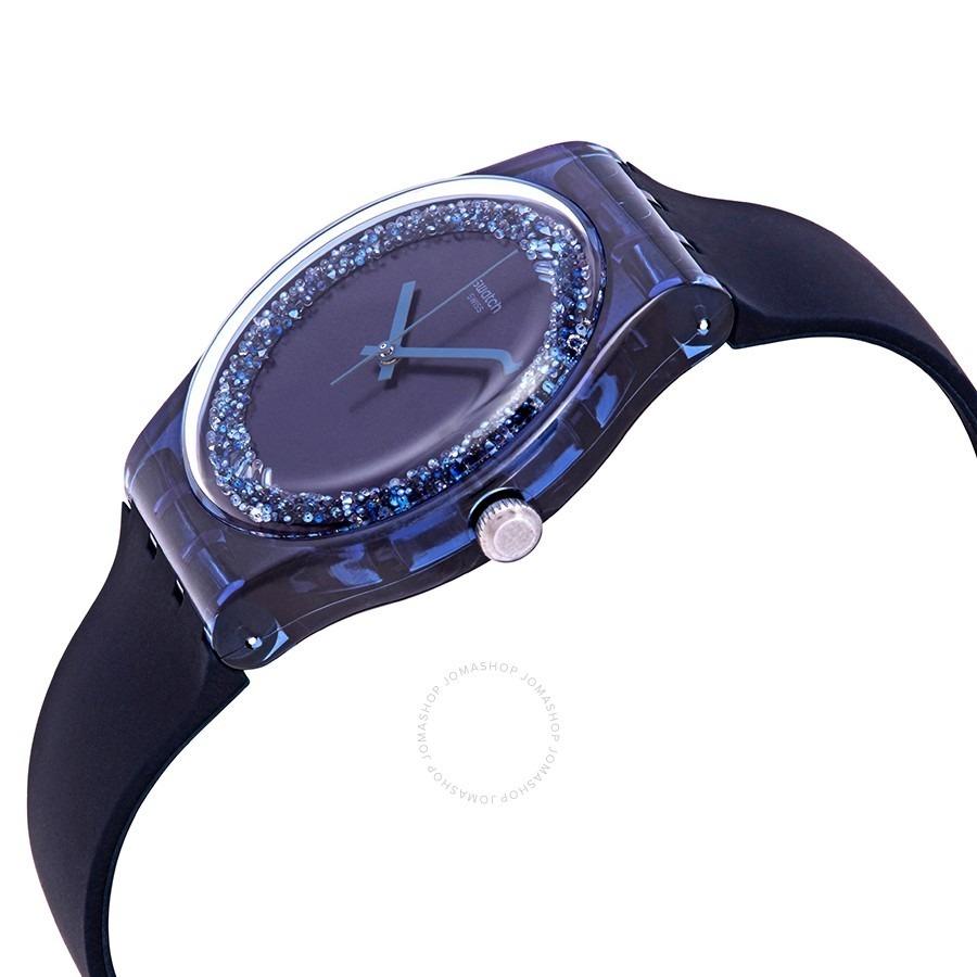 Suizo Watch Reloj Brillos Fan Swatch Blusparkles Suon134 f6gY7vby