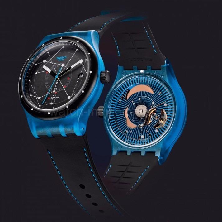 Suts401 Reloj 51 Bar Sistem Blue Automatico 3 Swatch rBCoeWdx