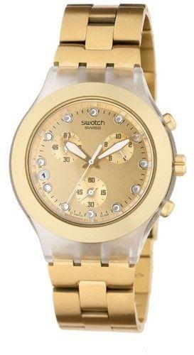 reloj swatch (svck4032g) full blooded silver dorado
