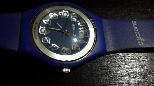Unisex Goma Azul1 Swiss Color 43 Reloj Swatch 954 K1clFJ