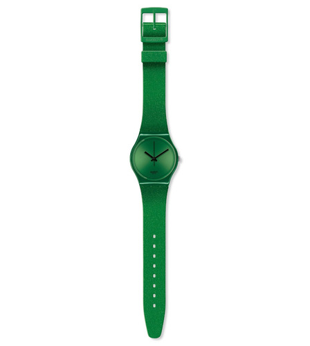 reloj swatch verde de silicona modelo gg213