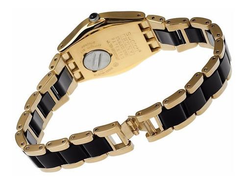 reloj swatch yellow pearl black ylg124g | envío gratis.