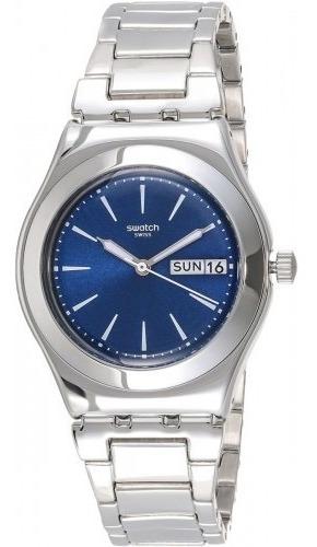 Yls713g Selfie Mujer Reloj Azul Plateado Acero Swatch OiXTwPkZu