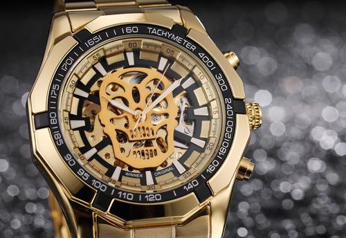 reloj t-winner hombre automático skeleton calavera skull 01