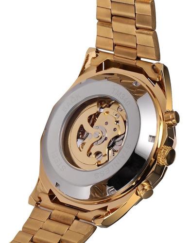 reloj t-winner hombre automático skeleton calavera skull