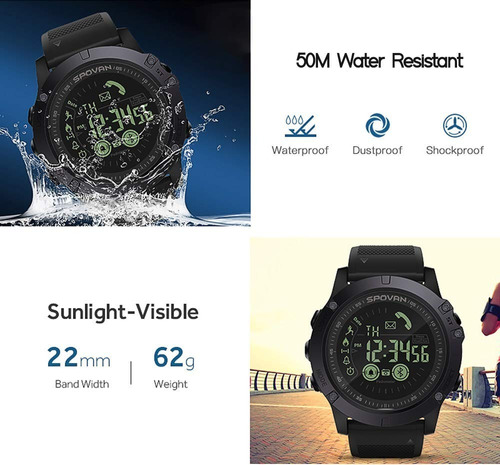 reloj táctico inteligente spovan digital caballero deportivo