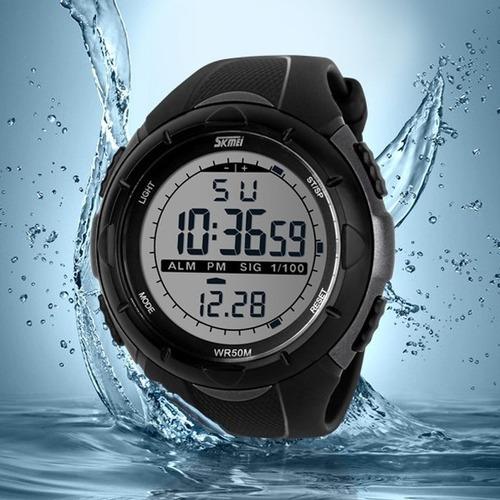 reloj tactico skmei swim anti shock sumergible 50 metros