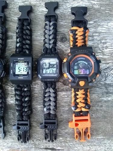 reloj tactico sport paracord 550