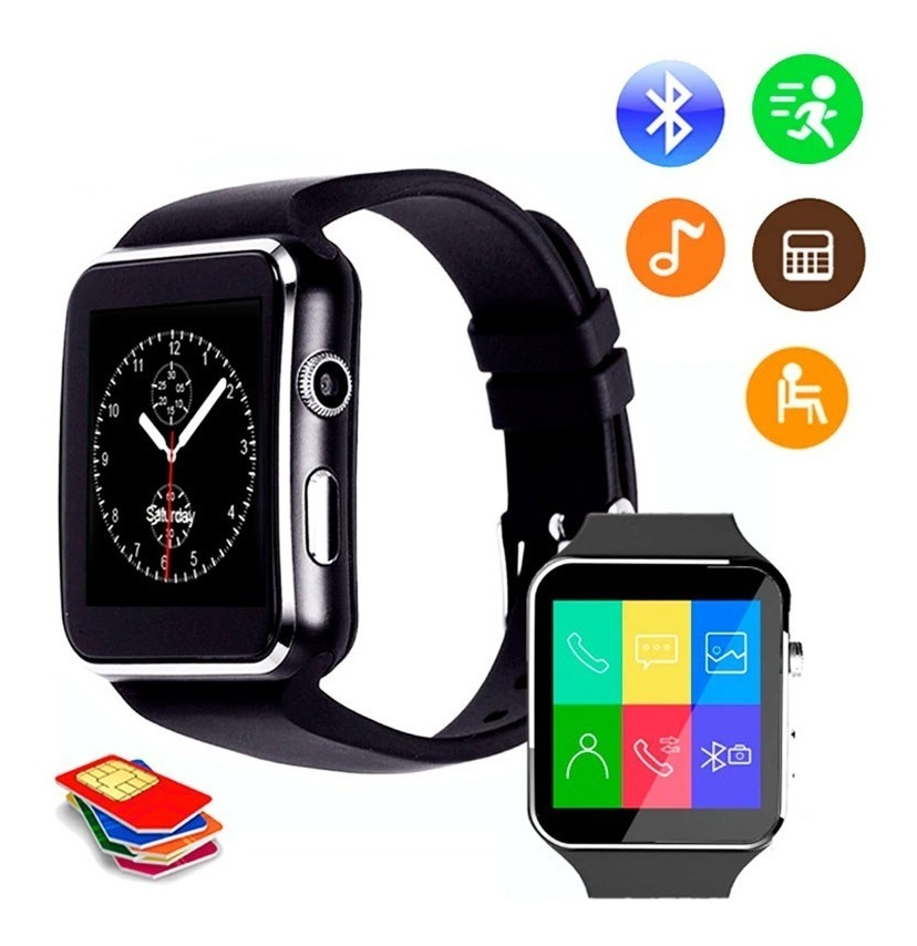 d56885bbe reloj tactil celular smart watch x6 gt08 u8 cámara bluetooth. Cargando zoom.