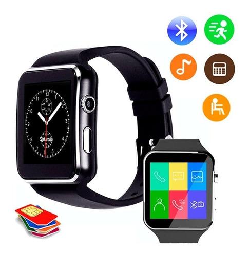 reloj tactil celular smart watch x6 gt08 u8 cámara bluetooth