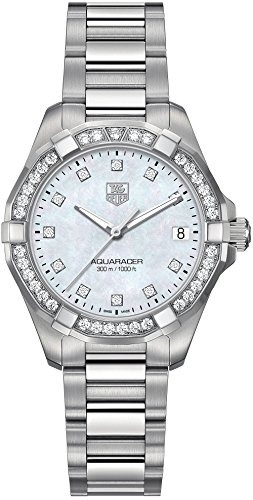 Reloj Tag Heuer Aquaracer 300m Para Mujer Con Diamante