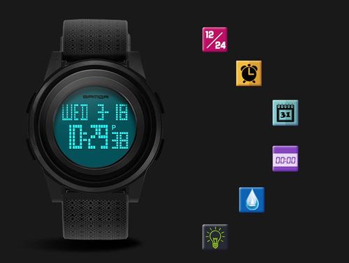 reloj taixun deportivo digital iluminación led sumergible