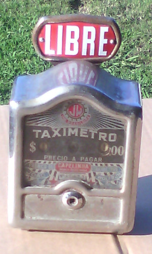 reloj taximetro antiguo capelinha