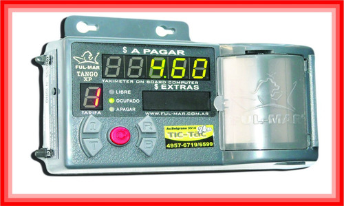 reloj taximetro fulmar tango xp taxi c/ led  y 6 digitos!