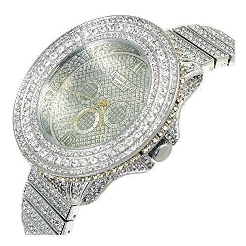 reloj techno king para hombre heart of stone series silver k