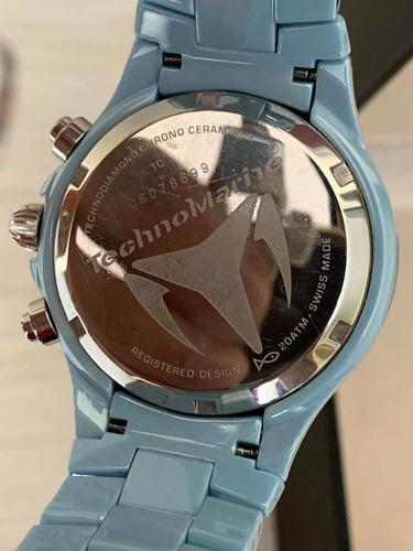 reloj technomarine en ceramica para dama