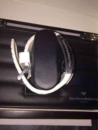 reloj technomarine hummer caucho blanco suizo original