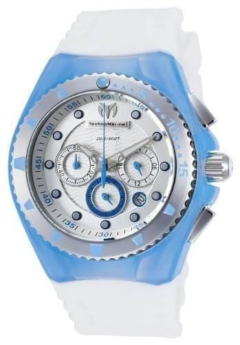 reloj technomarine tm-115240 poliuretano blanco unisex.