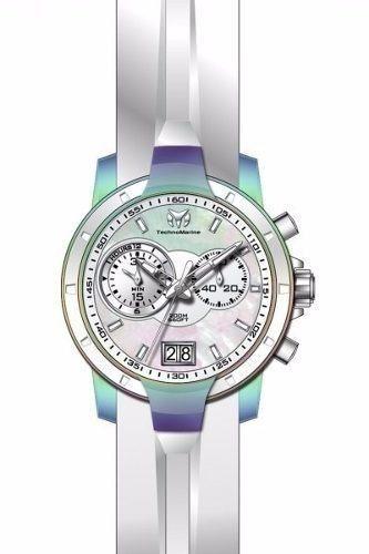 reloj technomarine tm-615021 silicona color blanco mujer