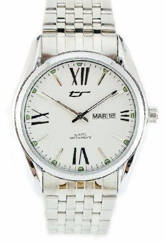 reloj tecno sport acero doble calendario hombre garant ofic