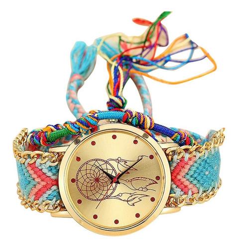 reloj tejido atrapasueños