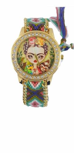 reloj tejido de moda frida kahlo mayoreo