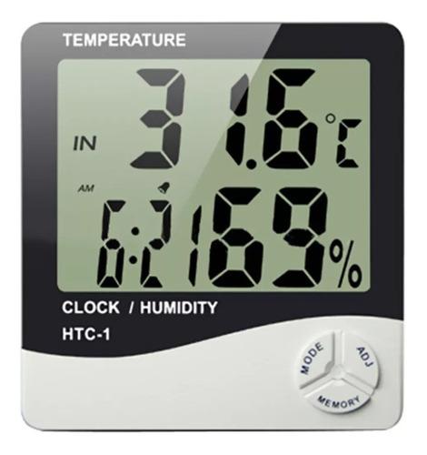 reloj termometro medidor temperatura humedad sensor