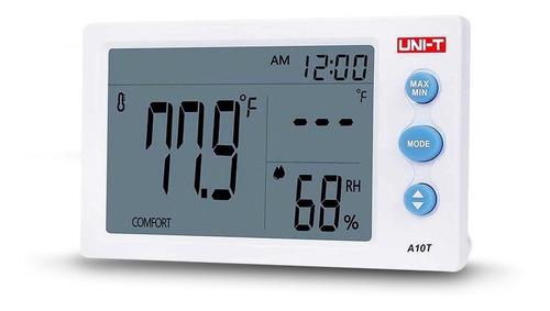 reloj termometro medidor temperatura humedad uni-t a10t