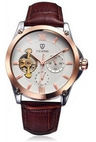 Tevise Tourbillon Reloj Automatico Caballero Mecanico Diseño mvn0ON8w