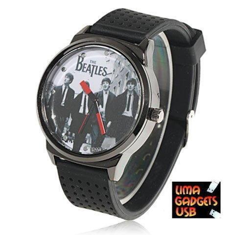 reloj the beatles importado no llavero no usb correa silicon