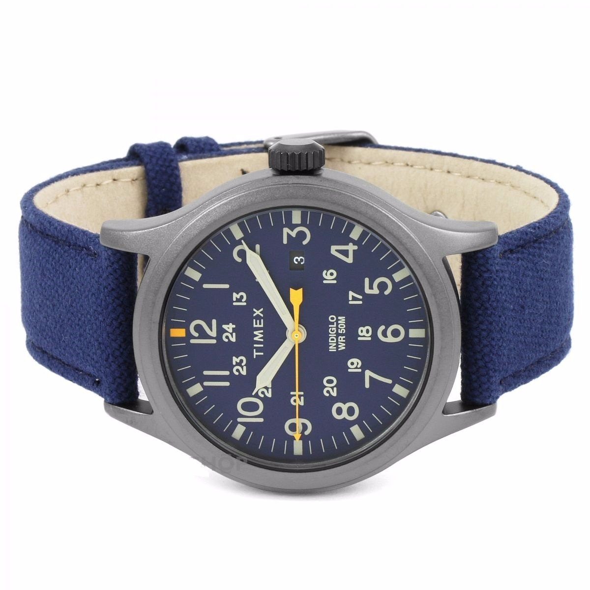 683f306e1ea8 reloj timex allied tw2r46200 caballero gris azul piel nylon . Cargando zoom.