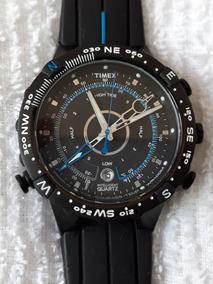 e6d190df5ca3 Reloj Timex Con Brujula Y Termometro En Acero en Mercado Libre México