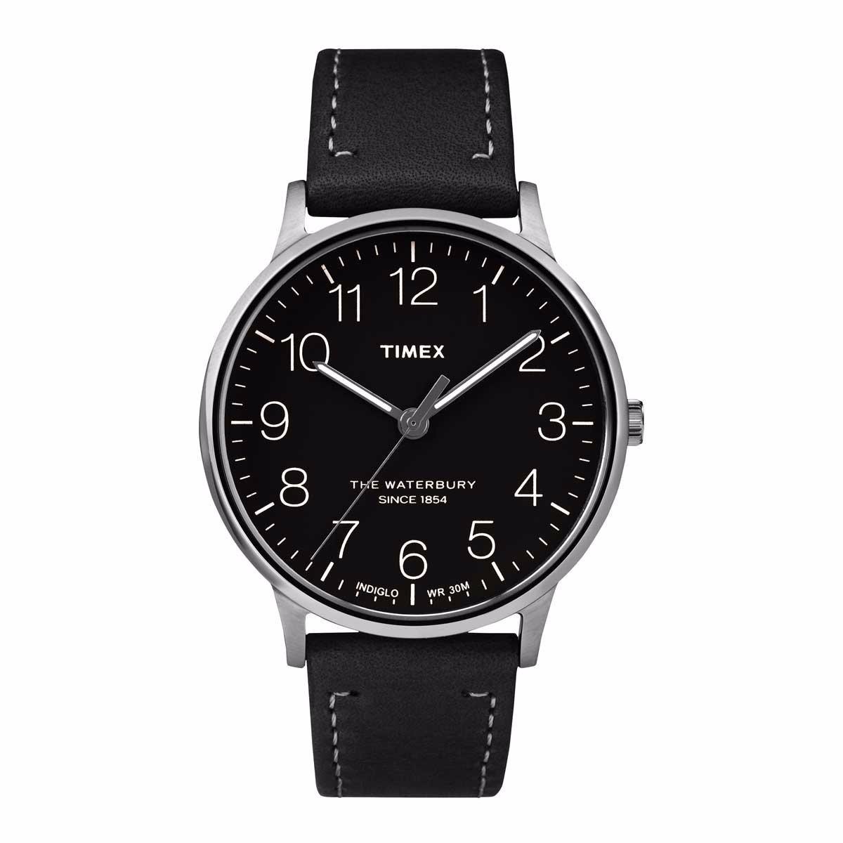 40c0f00e9d81 reloj timex de caballero piel y dial color negro tw2r25500. Cargando zoom.