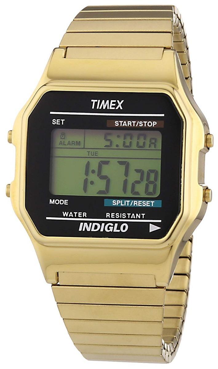 1adeecf027a4 reloj timex dorado 78677 digital color oro gold tone inoxida. Cargando zoom.