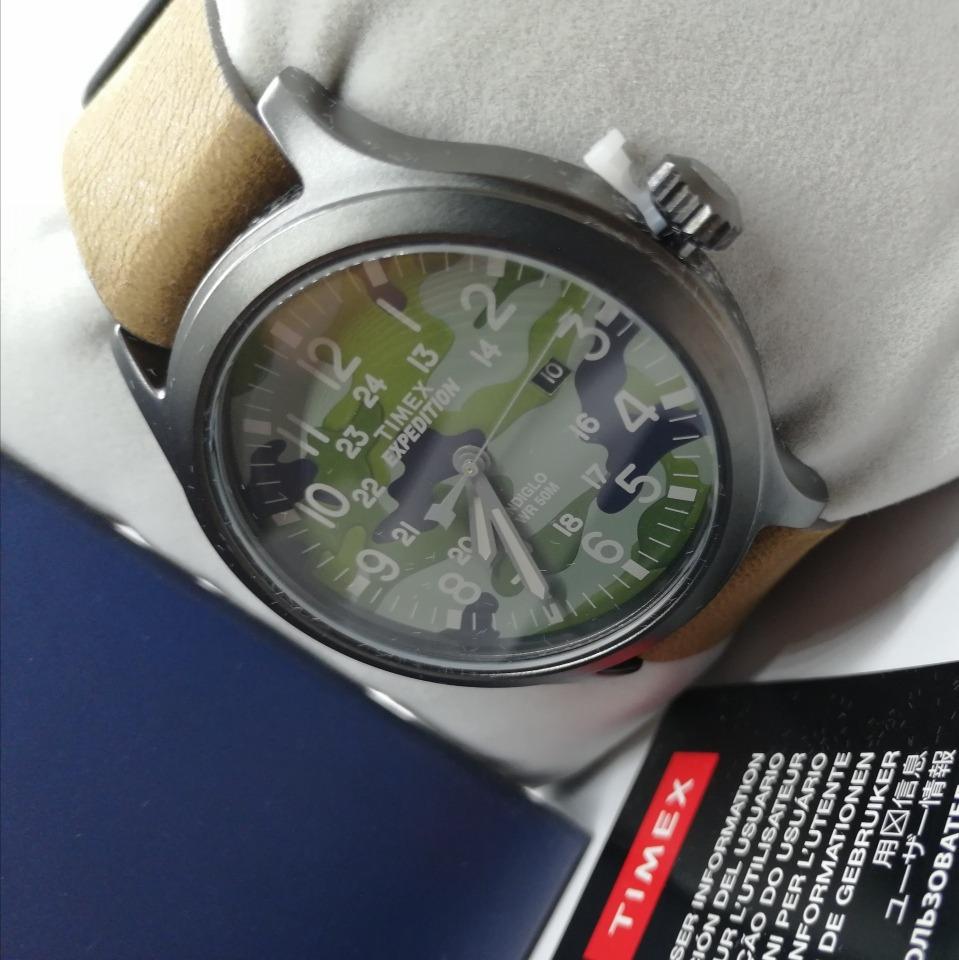 4cab77cfb147 Cargando zoom... reloj timex expedition cuero y luz original ...