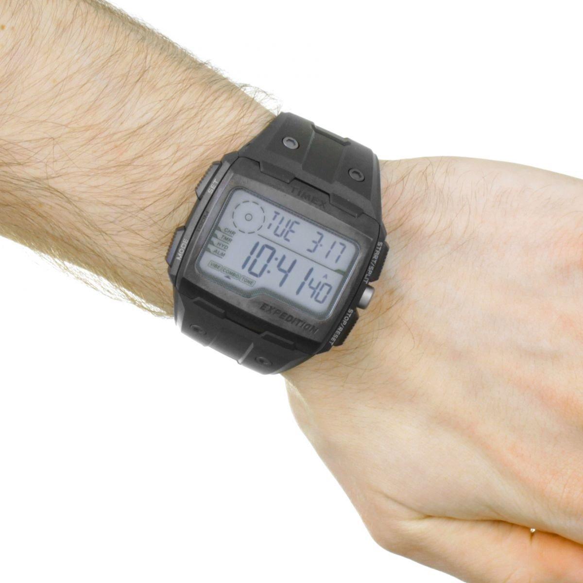 7829e675385f reloj timex expedition shock tw4b02500 negro gris caballero. Cargando zoom.