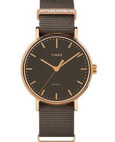 ff7f77913665 Reloj Timex Fairfield Crystal Tw2r48900 Cafe Original Dama