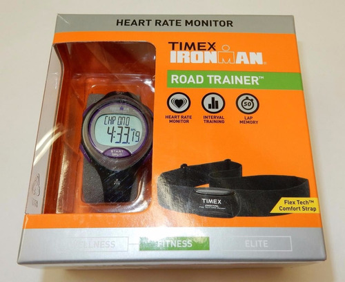 reloj timex ironman road trainer heart rate t5k723 mujer